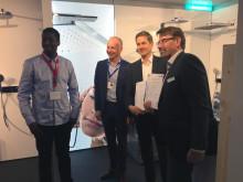 Överlämnande av certifikat Nordbygg 2018