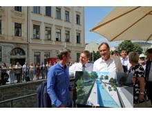 Präsentation des finalen Ausbaus des Elstermühlgrabens bis 2023