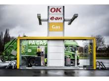 PR billede: E.ON og OKs fælles gastankstation på Praghs Boulevard i København