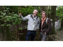 Projektledning Pilgrimsledning Göta älv - Johan Norling, projektledare, och Alexander Andreasson, praktikant
