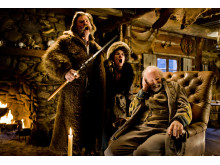 Kurt Russell, Jennifer Jason Leigh och Bruce Dern i The Hateful Eight