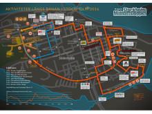 Bansträckning och kringarrangemang Midnattsloppet Stockholm 2016