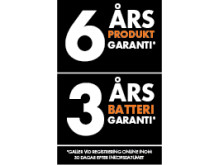 AEG garanti 6/3 år