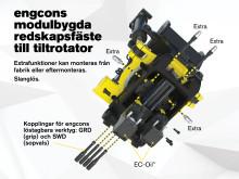 engcons modulbygda redskapsfäste till tillrotator