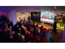 Presentation av Idfyed under världspremiären i Stockholm