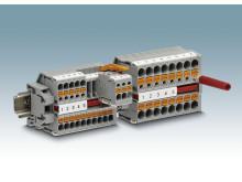 Minimala plintar med Push-In anslutning för 15 mm DIN-skena