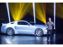 """Ford Mustang ja Aaron Paul """"Need for Speed"""" -elokuvan esittelytilaisuudessa"""