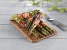 Asparges med glasert bacon