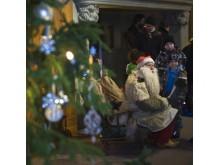 Tomtefar besöker Julmarknaden på Tjolöholms Slott