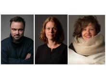 Juryn för Utvalt i Skåne 2018: Matti Klenell, Cilla Robach, Anne Elmdahl