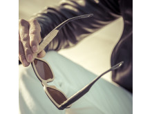 Sunglasses with electronic tint - Model: Classic in Charcoal/Sand