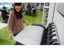 HP Designjet T920 flatt bord på toppen