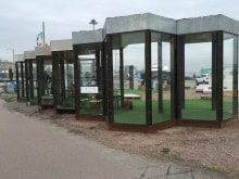 Buller-och väderskydd på masthuggskajen