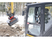 Rototilt  med Rototilt Positioning Solution och Trimble grävsystem