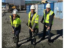 På bilden: Annika Molander, Marcus Morichetto och Björn Hylander, samtliga från Sweco.