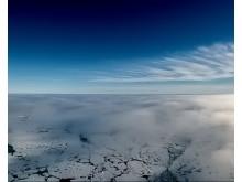 Moln i olika skikt i Arktis.