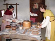 Vikingefladbrød på Trelleborg