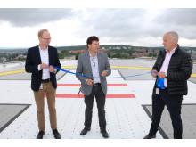 Helikopterflygplatsen på Nus invigd