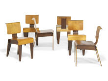"Marcel Breuer: Six ""Isokon"" stacking chairs"