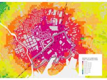 Västerås stadskärna med beslutande och pågående planer
