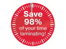 Spara 98% av din tid till laminering