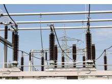 110-kV-Schaltanlage auf dem Gelände des Umspannwerks in Grabenstätt