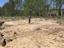 Arkeolog vid Acksjön, Ekshärad.