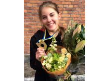 Sofia Sörliden, vinnare i tävlingen SM för unga plåtslagare 2015.
