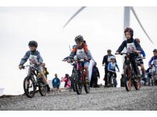 Sykkelløp i Roan vindpark