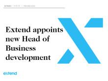 New Head of Business Development at Extend