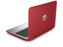 HP Pavilion x360 stand mode Back left facing red