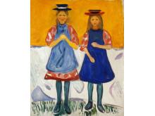 Edvard Munch: To småpiker med blå forklær, 1904-05