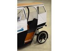 Väderskyddade el-lastcykeln Armadillo testas av allmännyttan i Göteborg