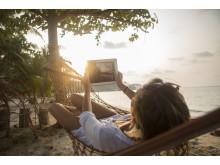 Online på ferien
