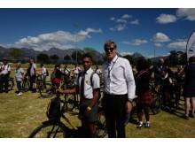 Sjømatrådets prosjektleder i Afrika, Trond Kostveit, under arrangementet i Cape Town