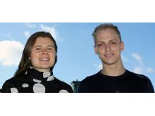 Linnea Hesslow och Ola Embréus, doktorander vid Chalmers institution för fysik