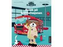 Besøk på brannstasjonen, er en av bøkene Aschehoug utgir om brannbamsen Bjørnis høsten 2019.