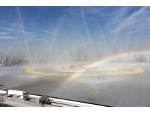 Miljövänlig helikopterplatta först i Europa