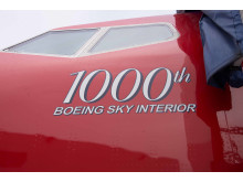 Jubilæumsfly LN-NGU - Boeings fly nummer 1000 med Sky Interior