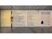 "Edgar Cleijne och Ellen Gallagher, installationsvy ""Wisdom of Ra"" (2018), Bonniers Konsthall"
