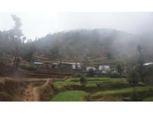 Skole i bratt terreng i Dolakha i Nepal