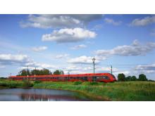 Tåg med bakgrund