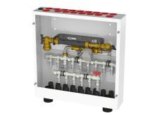 Vattenmätarskåp med vattenfelsbrytare