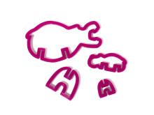 3D pepparkaksform - Flodhäst formen