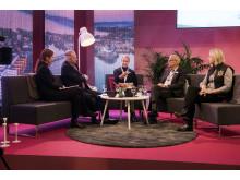 Frida Boklund, Fredrik Sidahl och Anna Gillek Dahlström vara alla oroliga över den osäkerhet som finns om Donald Trumps politik.