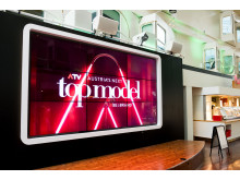 Die Ankündigung der Modelshow an Bord der Silja Symphony
