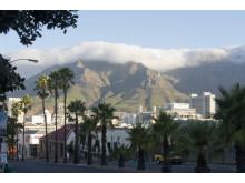 Tablecloth över Taffelbergen i Kapstaden
