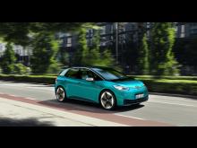 Volkswagens nya elbil ID.3 är den första bilen i koncernen som levereras till kunder koldioxidneutralt (netto)