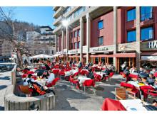Hauser_Terrasse_RooBarWinter © Hotel Hauser St. Moritz