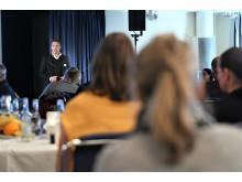 Visit Dalarnas vd Jonas Rosén på Dalarnas besöksnärings branschdagar 2019. Foto: Visit Dalarna